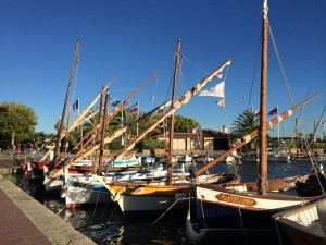 Handmade wooden boats in Sanary