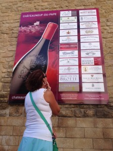 Too many to choose from in Chateauneuf de Pape