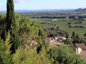 View of the Rhone valley from Chateauneuf de Pape