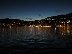 An evening photo of Villefranche