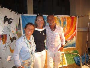 Brenda with the artist Tronet Marcel and his wife