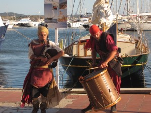 Modern day troubadours--pirate style in Sanary