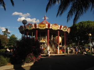 The carousel in Sanary