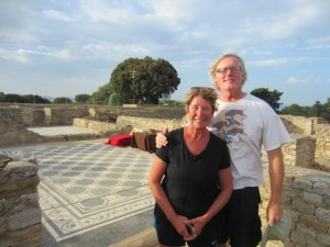 Roman mosaic floors with Ceca and Bill at Empuries