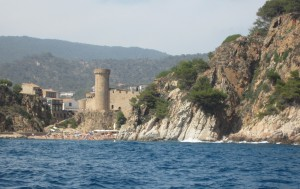 The medieval tower of Tossa along the Costa Brava