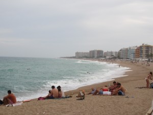 The beach at Blanes