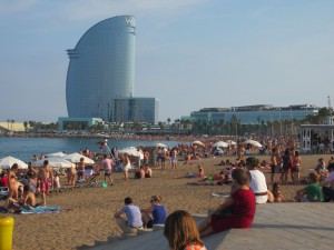 One of the beaches of Barcelona