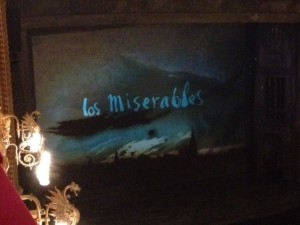 The stage at Los Miserables