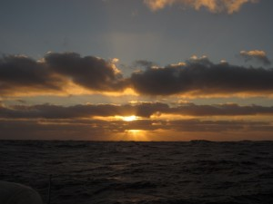 Sunset over the Atlantic Ocean, Aug. 12, 2014