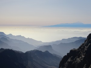 The view from Roque Nublo looking toward the island of Tenerife