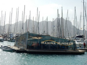 The floating marina bar