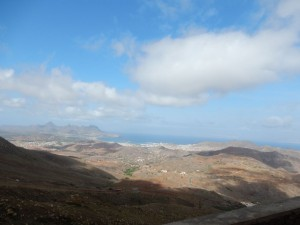 View of Mindelo from the highest peak